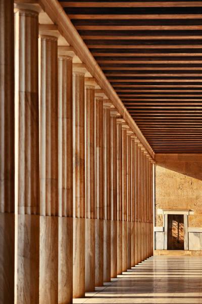 Photograph - Stoa Of Attalos Exhibition Hall  by Songquan Deng