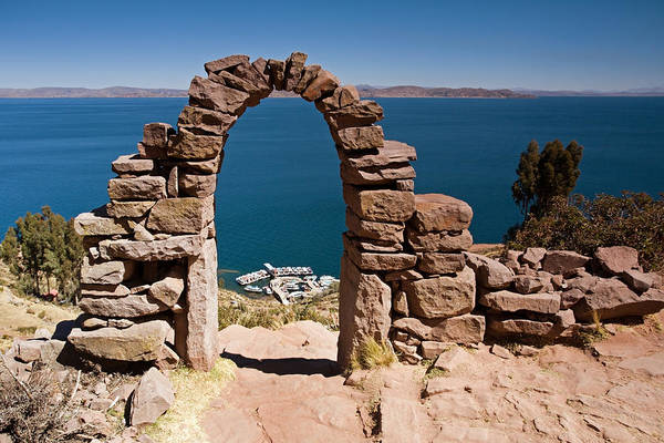 Photograph - Stone Arch Of Taquile Island by Aivar Mikko