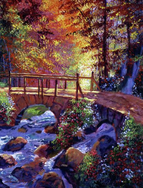 Painting - Stone Bridge At Royal Gardens by David Lloyd Glover