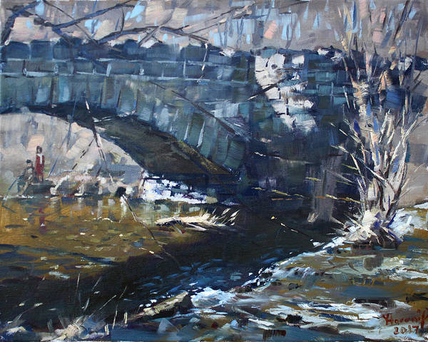 Stone Bridge At Three Sisters Islands Art Print