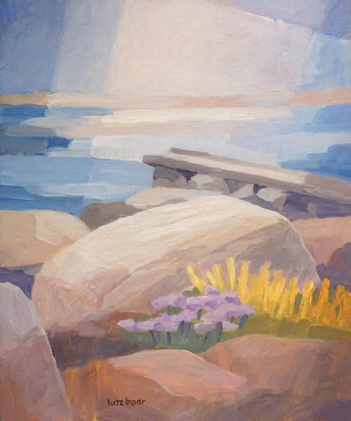 Jetty Painting - Stony Coast by Lutz Baar