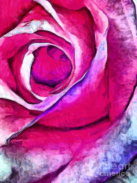 Rose Bud Digital Art - Stop And Smell The Roses by Krissy Katsimbras