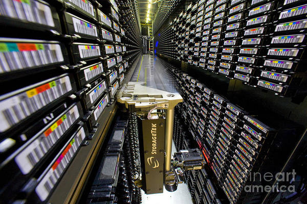 Photograph - Storagetek Robotic Tape Storage by Science Source