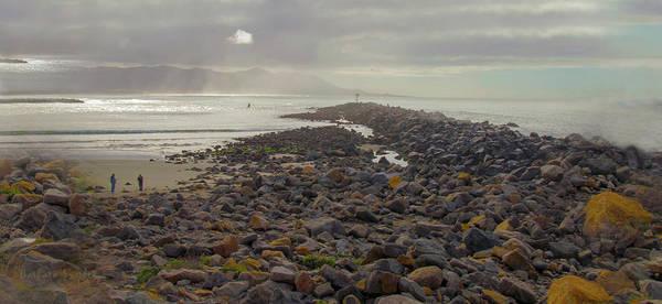 Wall Art - Photograph - Storm At Morro Rock Breakwater Morro Bay California by Barbara Snyder