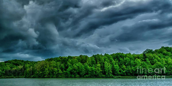 Photograph - Storm Clouds Over Lake by Thomas R Fletcher