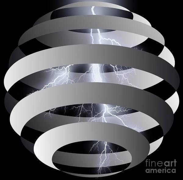Wall Art - Digital Art - Storm In The Sphere by Michal Boubin