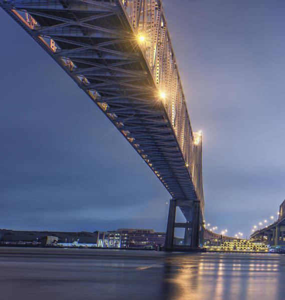 Photograph - Storms Over The Crescent City Connection by Andy Crawford