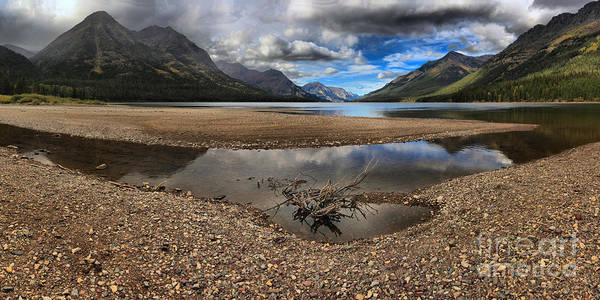 Photograph - Storms Over Upper Waterton Lake by Adam Jewell