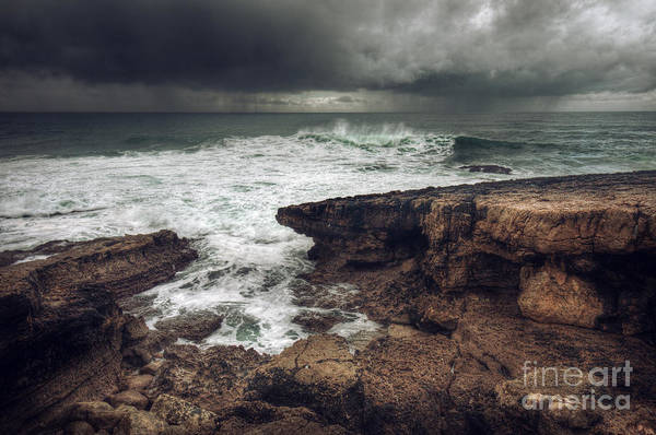 Grey Skies Wall Art - Photograph - Stormy Seascape by Carlos Caetano