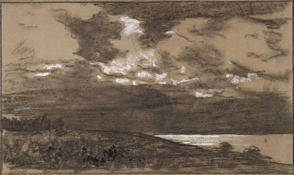 Stormy Drawing - Stormy Sky by Winslow Homer