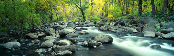 Chasm Photograph - Stream In Cottonwood Canyon, Sedona by Panoramic Images