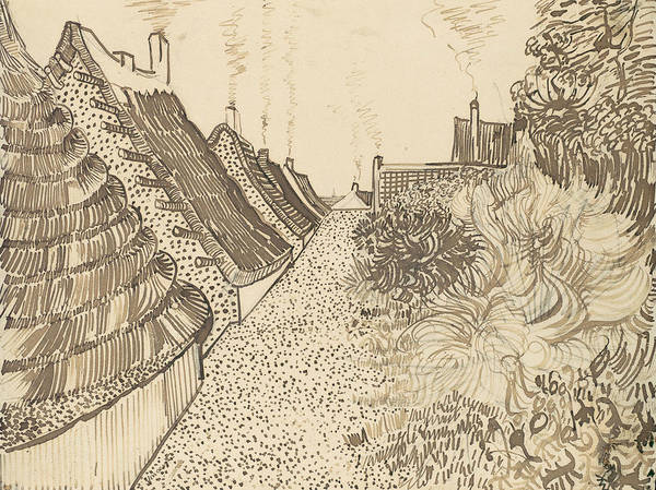 Drawing - Street In Saintes-maries-de-la-mer by Vincent van Gogh