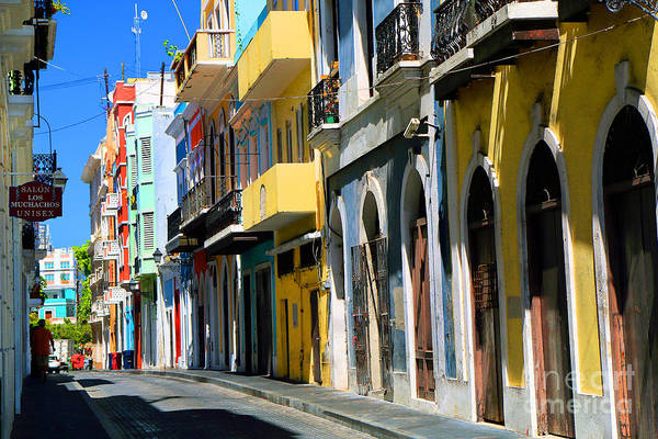Photograph - Street Scene In Old San Juan by Steven Spak