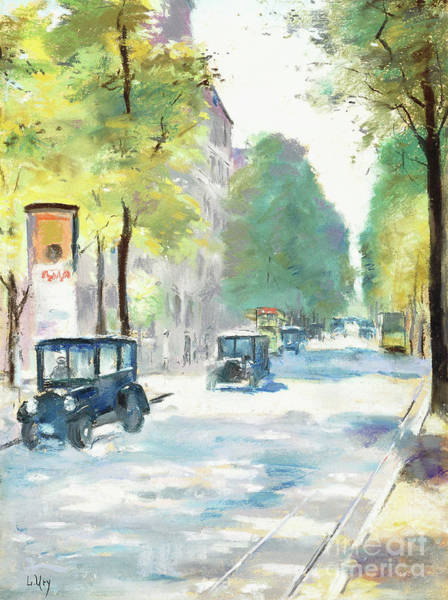 Wall Art - Pastel - Street Scene by Lesser Ury