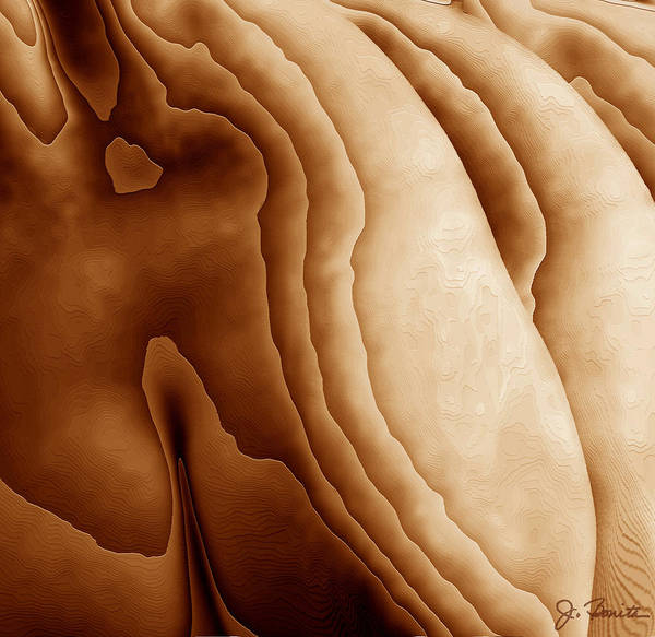 Female Nude Digital Art - Striations by Joe Bonita