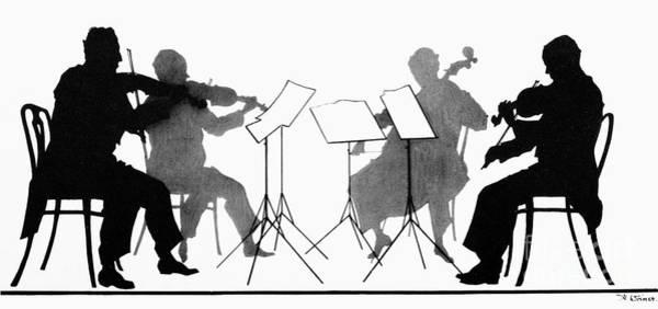 Violin Wall Art - Photograph - String Quartet, C1935 by Granger
