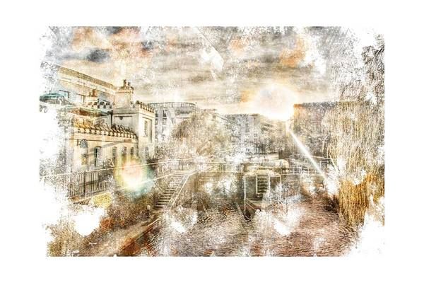 River Thames Digital Art - Stroked Camden Town by Andrea Barbieri