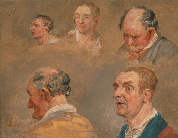Ward Painting - Studies Of Jacky Turner And The Reverend Charles Hope's Gardener by James Ward