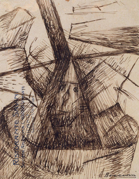 Drawing - Study For Fusion Of A Head And A Window by Umberto Boccioni