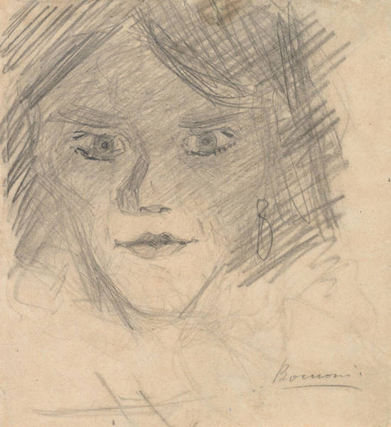 Boccioni Wall Art - Drawing - Study For Modern Idol by Umberto Boccioni