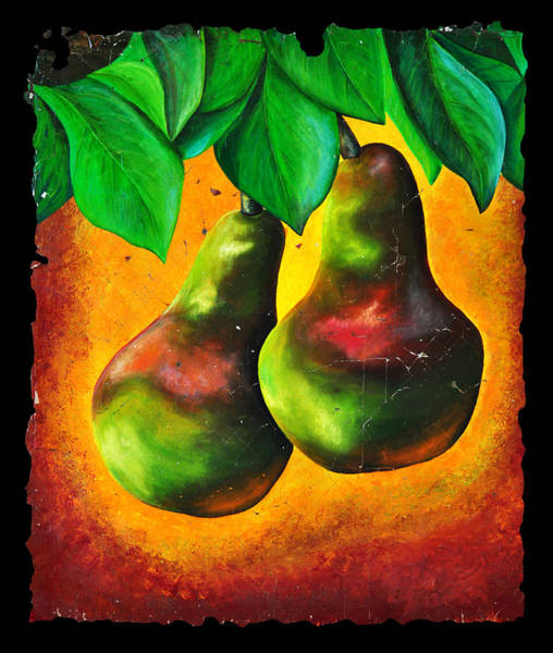 Painting - Study Of Two Pears by OLena Art Brand