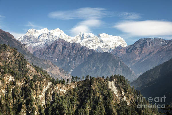 Photograph - Stunning View Of The Manaslu Summit In Nepal by Didier Marti
