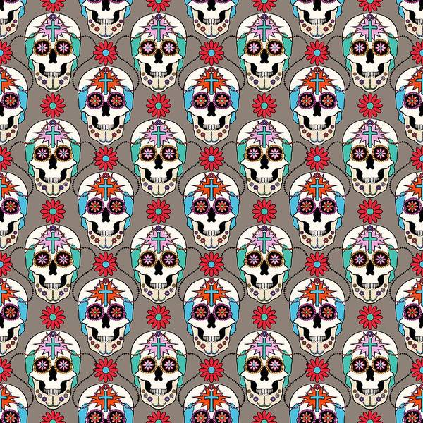 Digital Art - Sugar Skulls Pattern 2 by MM Anderson
