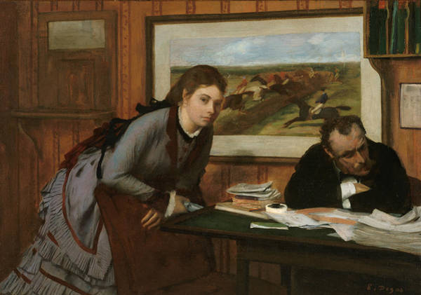 Painting - Sulking by Edgar Degas