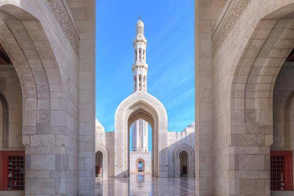 Stadt Photograph - Sultan Qaboos Grand Mosque - Oman by Joana Kruse