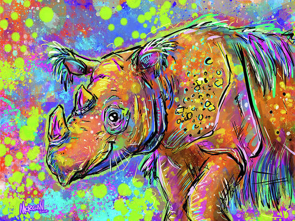 Indonesia Digital Art - Sumatran Rhino by Morgan Richardson