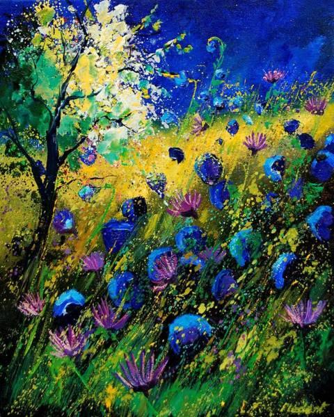 Blue Cornflower Painting - Summer 450208 by Pol Ledent
