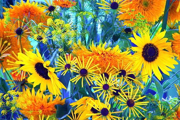 Photograph - Summer Bouquet by Byron Varvarigos
