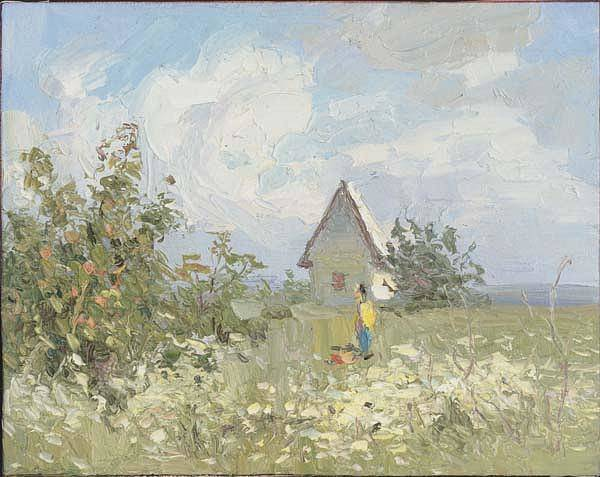 Russian Impressionism Wall Art - Painting - Summer Day by Gregory Gamaley