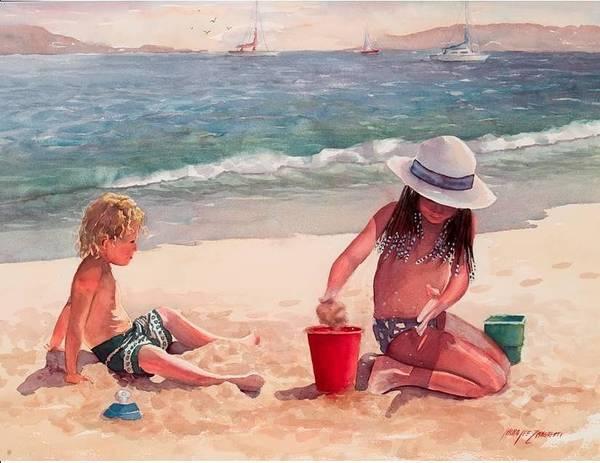 Wall Art - Painting - Summer Days by Laura Lee Zanghetti