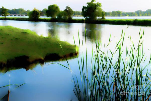 River Scene Mixed Media - Summer Dreams by Betty LaRue