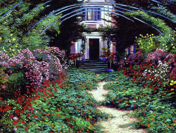 Arbor Painting - Summer In Giverny by David Lloyd Glover