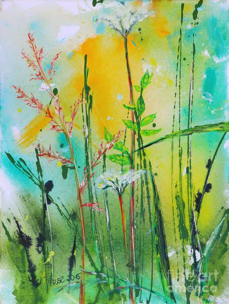 Wall Art - Painting - Summer Meadow by Jutta Maria Pusl