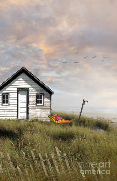 Photograph - Summer Shack With Hammock By The Ocean by Sandra Cunningham