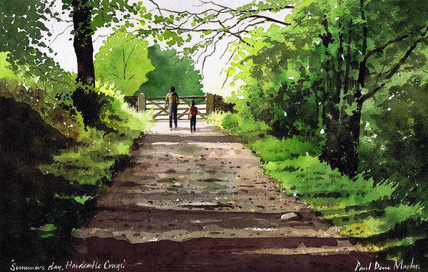 Wall Art - Painting - Summers Day Hardcastle Crags. by Paul Dene Marlor