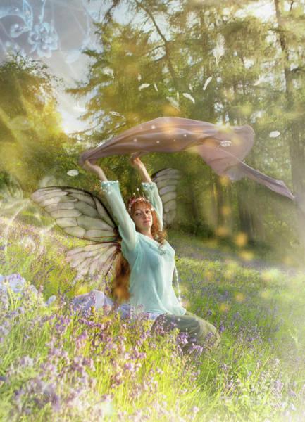 Wall Art - Digital Art - Summertime Fairy by Angel Ciesniarska