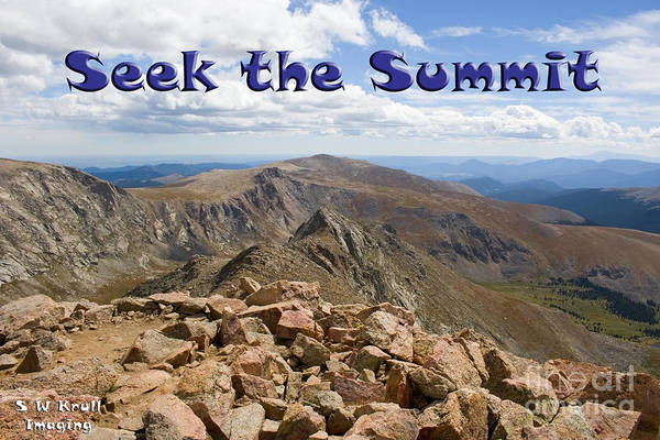 Photograph - Summit Of Mount Bierstadt In The Arapahoe National Forest by Steve Krull