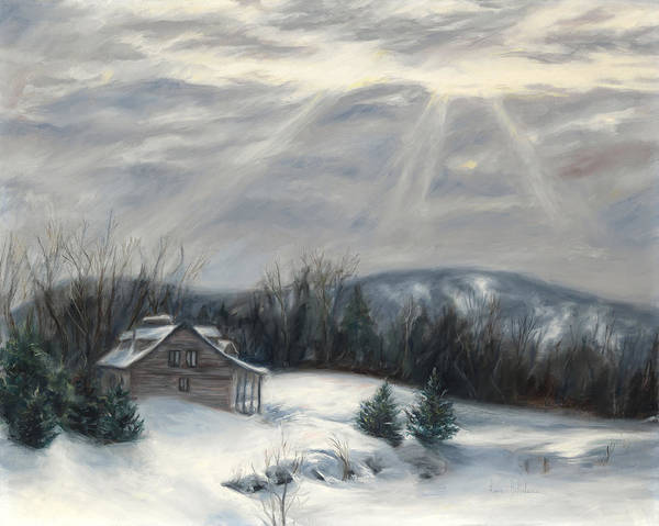 Painting - Sunbeams In Winter by Lucie Bilodeau