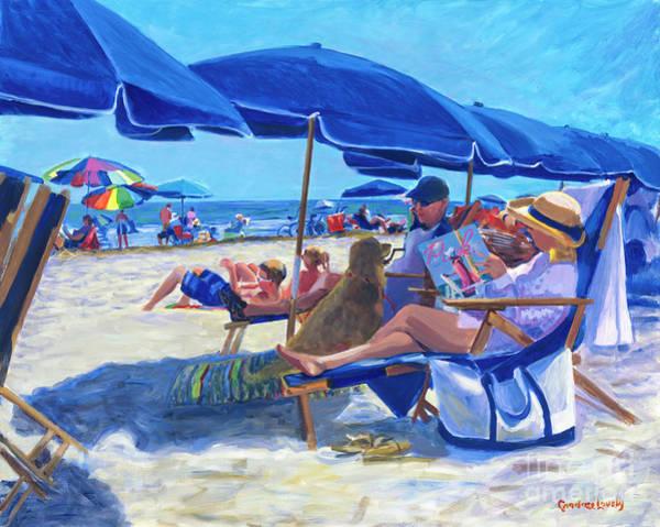 Hilton Head Island Painting - Sunday Umbrella Blues by Candace Lovely