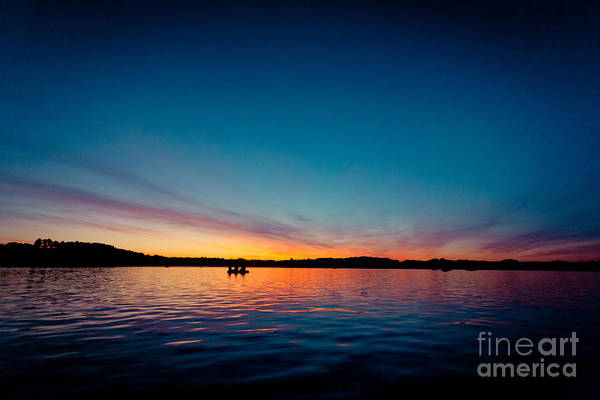 Photograph - Sunrise Above Lake Water Summer Time Latvia Ezera Skanas by Raimond Klavins