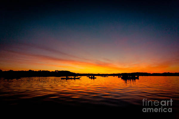 Photograph - Sunrise Above Lake Water Summer Time by Raimond Klavins