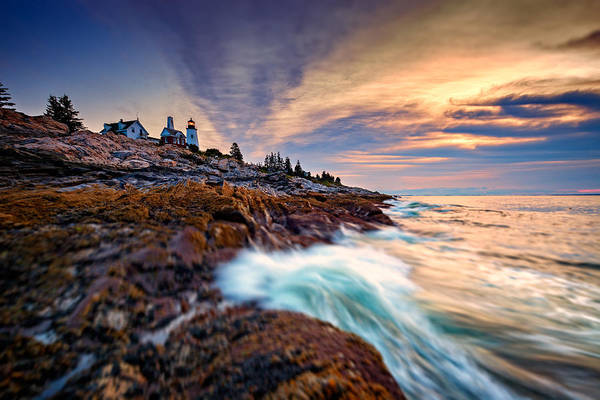East Point Photograph - Summer Sunrise At Pemaquid Point by Rick Berk