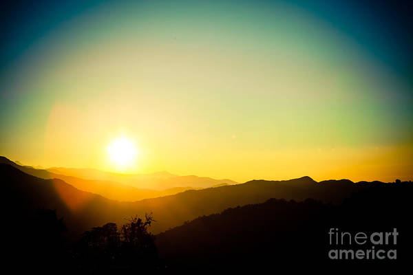 Photograph - Sunrise In Himalayas Artmif Photo Raimond Klavins by Raimond Klavins