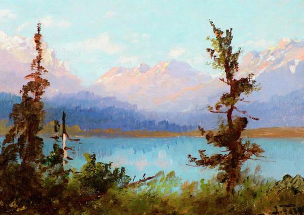 Art In America Painting - Sunrise In Montana by John Fery