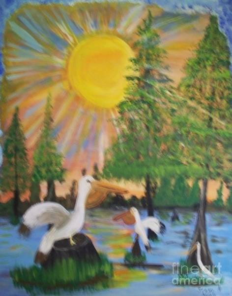 Note Book Painting - Sunrise In The Pelican State by Seaux-N-Seau Soileau
