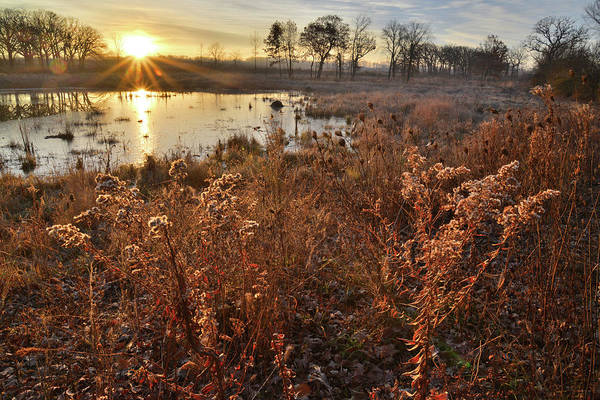 Photograph - Sunrise On Glacial Park Wetland by Ray Mathis